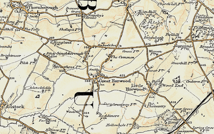 Old map of The Common in 1898