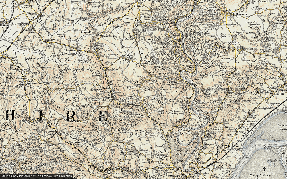 Old Map of Historic Map covering Banton in 1899-1900