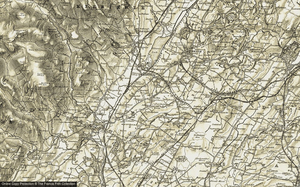 Old Map of Historic Map covering Barcosh in 1905-1906