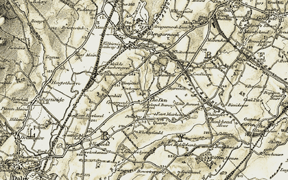 Old map of Bankhead Moss in 1905-1906