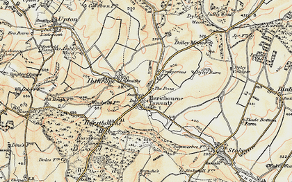 Old map of Hurstbourne Tarrant in 1897-1900