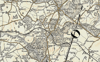 Old map of The Frythe in 1898-1899