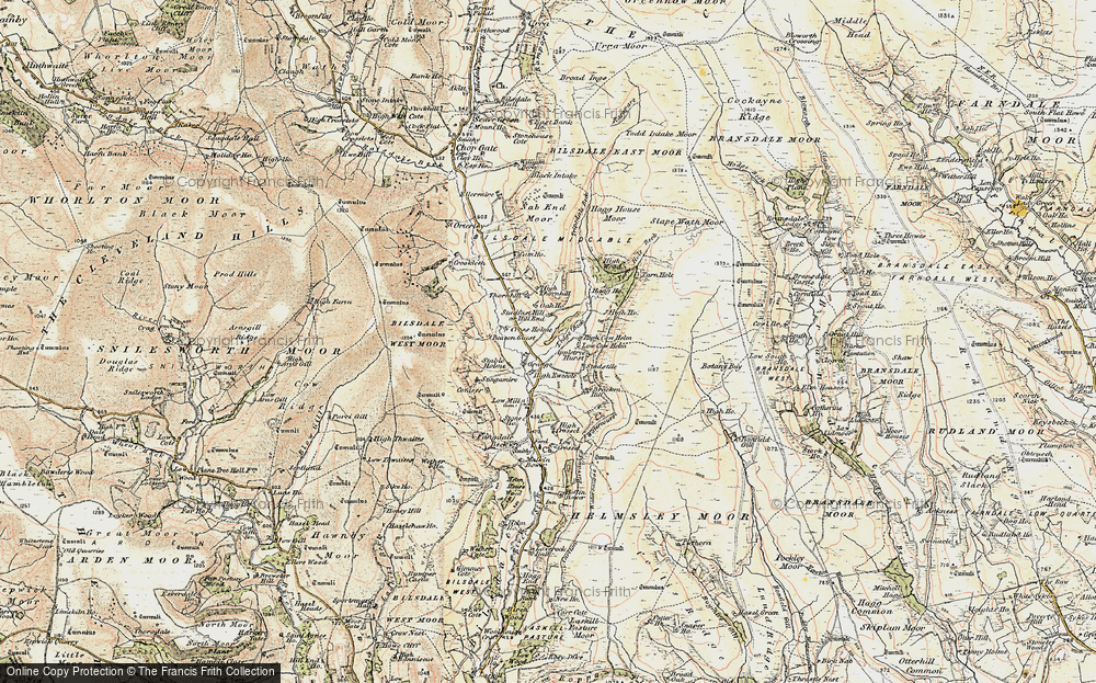 Old Map of Historic Map covering Ledge Beck in 1903-1904