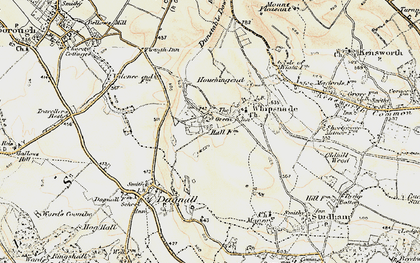 Old map of White Lion in 1898-1899