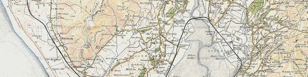 Old map of Whicham Mill in 1903-1904