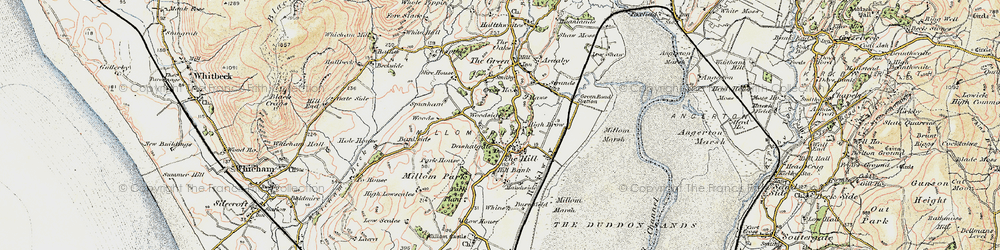 Old map of Whicham Valley in 1903-1904