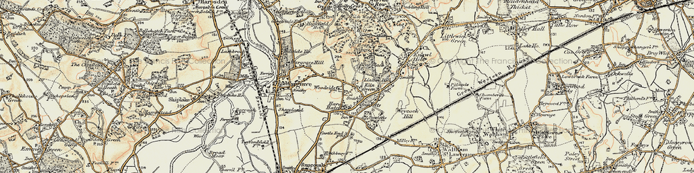 Old map of Yeldall Manor in 1897-1909