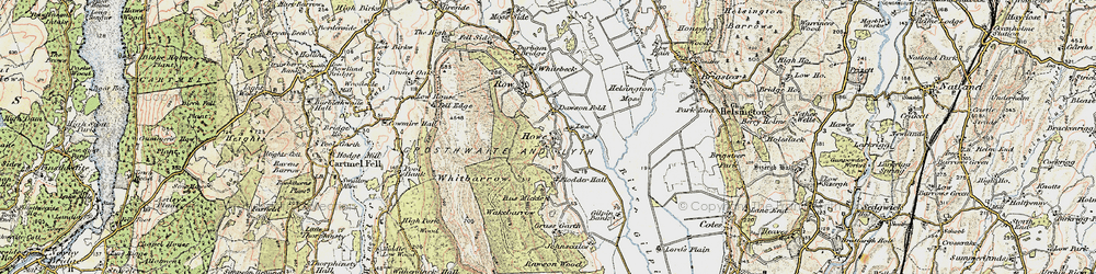 Old map of Whitbarrow Scar in 1903-1904