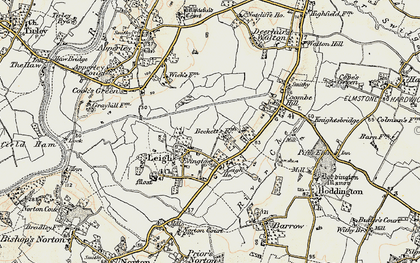 Old map of Leigh Ho in 1899-1900