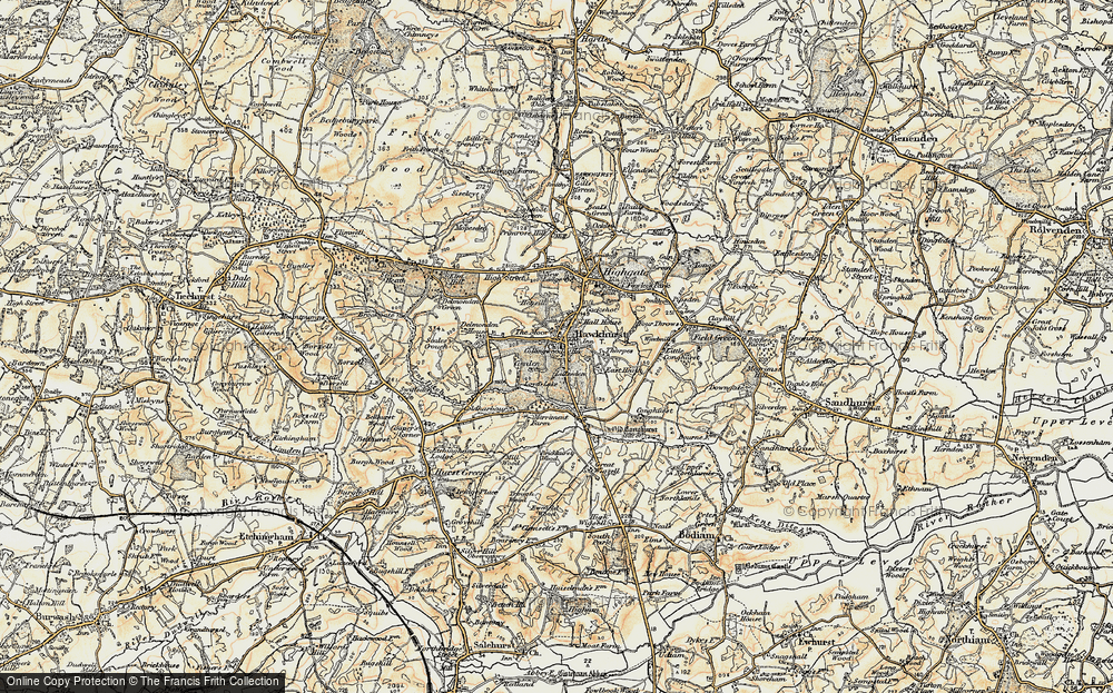 Old Map of Historic Map covering Lillesden in 1898