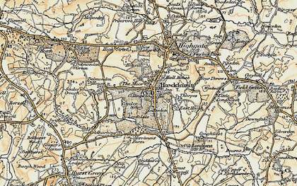 Old map of Lillesden in 1898
