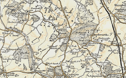 Old map of The Node in 1898-1899