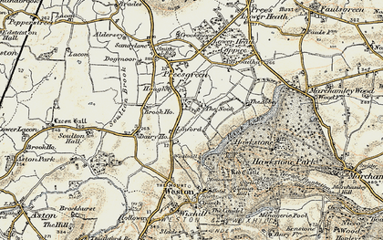 Old map of Hawkstone Park in 1902