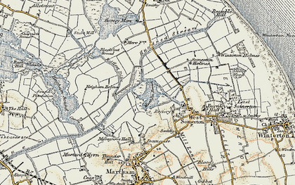 Old map of The Norfolk Broads in 1901-1902