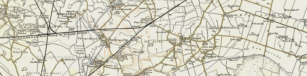 Old map of Ling Ho in 1903