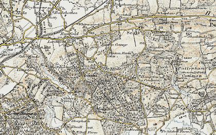 Old map of The Sands in 1898-1909