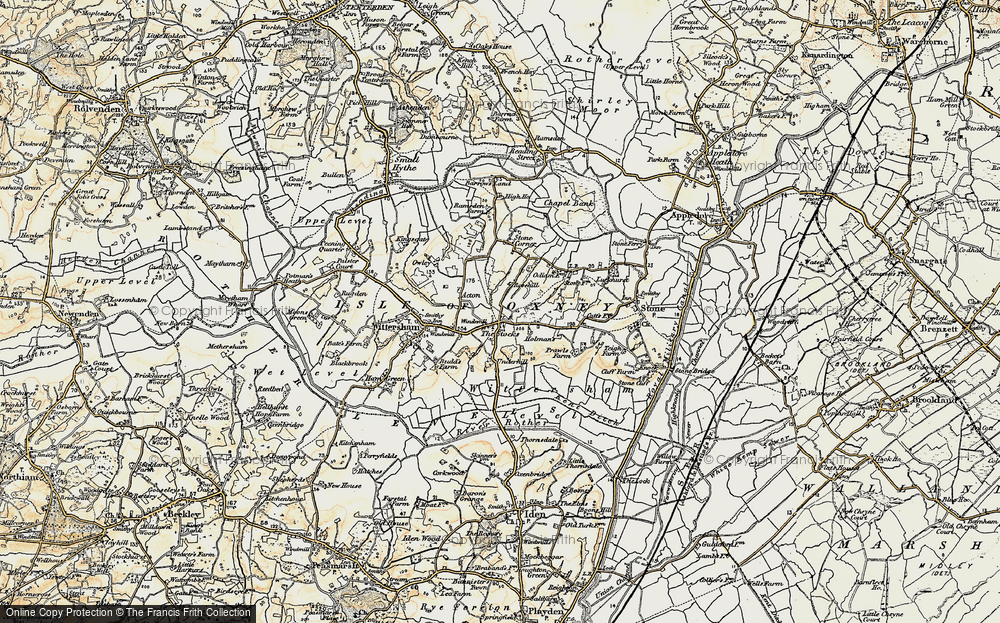 Old Map of Historic Map covering Acton in 1898