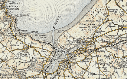 Old map of The Towans in 1900