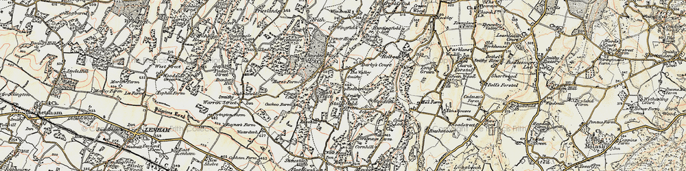 Old map of Woodsell in 1897-1898