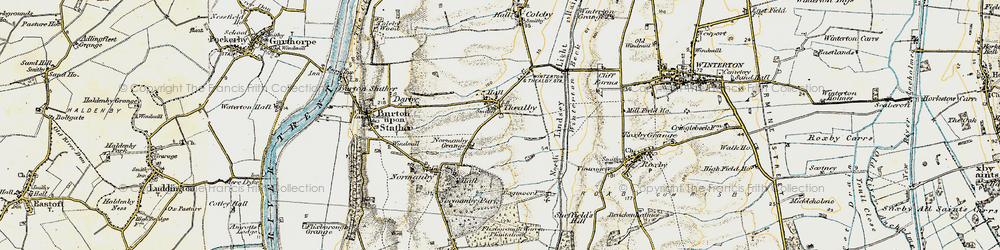 Old map of Winterton Beck in 1903