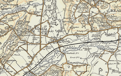 Old map of Theale in 1897-1900