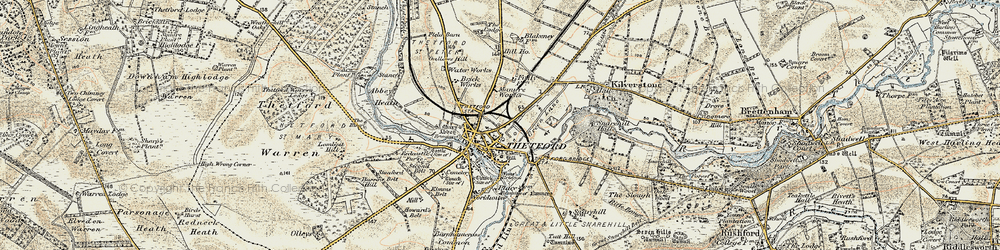 Old map of Abbey Heath in 1901