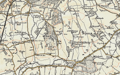 Old map of Theydon Mount in 1898