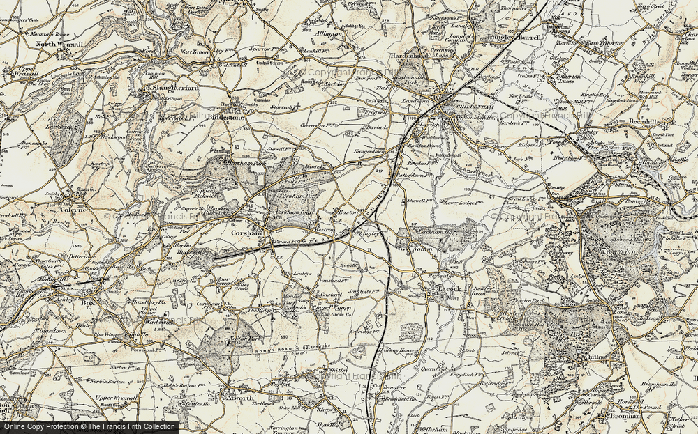 Old Map of Thingley, 1899 in 1899