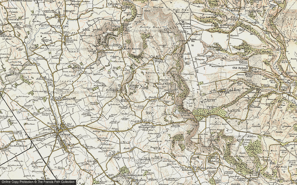 Old Map of Historic Map covering Aspen Grove in 1903-1904