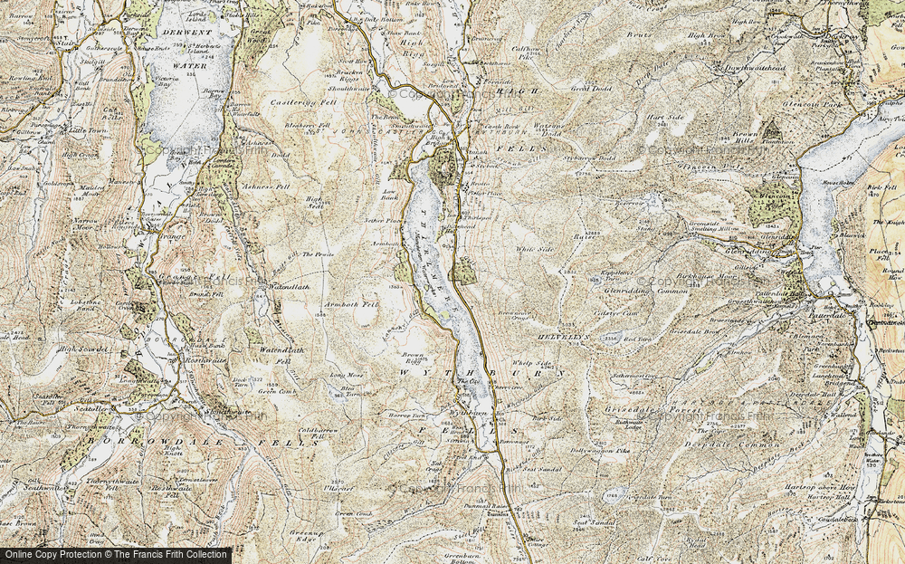 Old Map of Thirlmere, 1901-1904 in 1901-1904