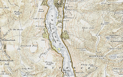 Old map of Thirlmere in 1901-1904