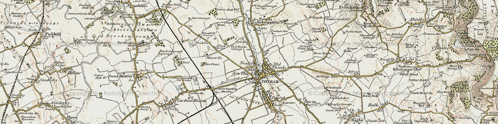 Old map of Thirsk in 1903-1904