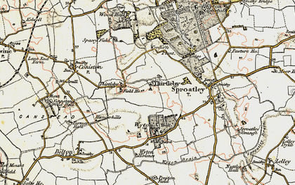 Old map of Wycliffe Plantn in 1903-1908