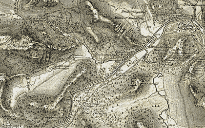 Old map of Ballachlaggan in 1908