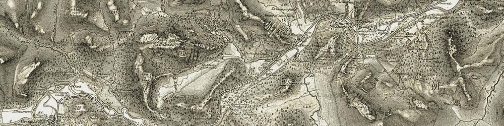 Old map of Woods of Garmaddie in 1908