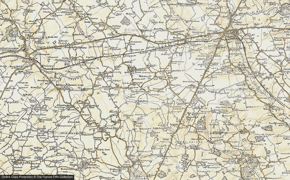 Old Map of Historic Map covering Leighs Lodge in 1898-1899