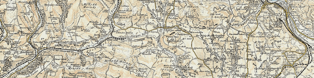 Old map of Thomastown in 1899-1900