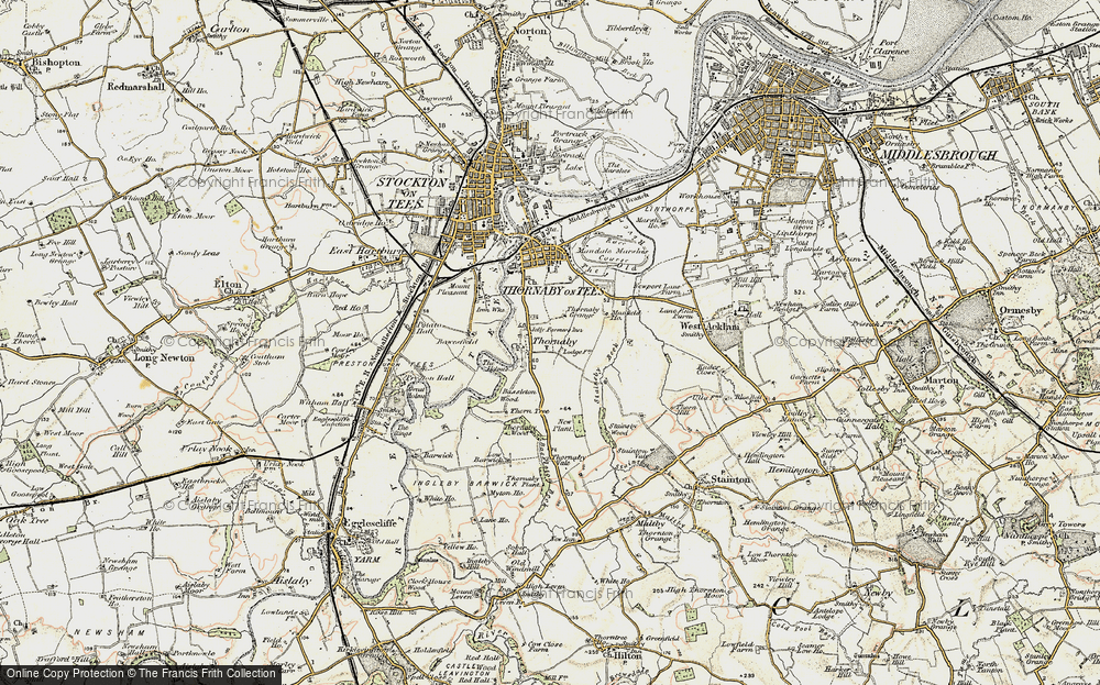 Old Map of Thornaby-on-Tees, 1903-1904 in 1903-1904