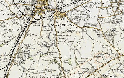 Old map of Thornaby-on-Tees in 1903-1904