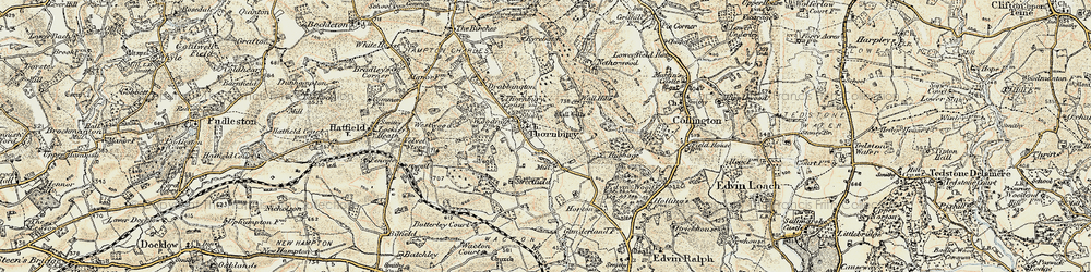 Old map of Yeld Ho in 1899-1902