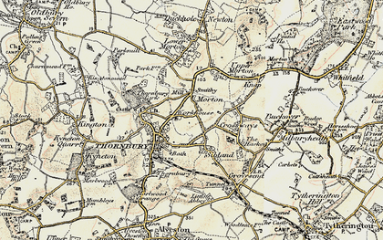 Old map of Thornbury in 1899