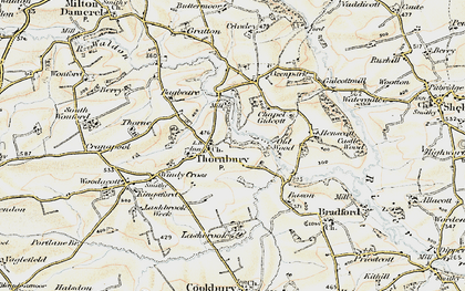 Old map of Lashbrook in 1900