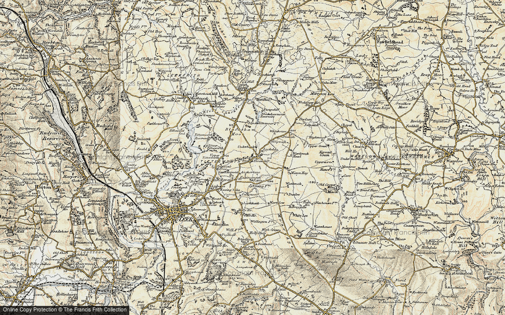 Old Map of Historic Map covering Ley Fields in 1902-1903