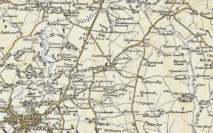 Old map of Ley Fields in 1902-1903
