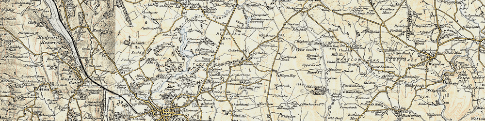 Old map of Whitehouse in 1902-1903