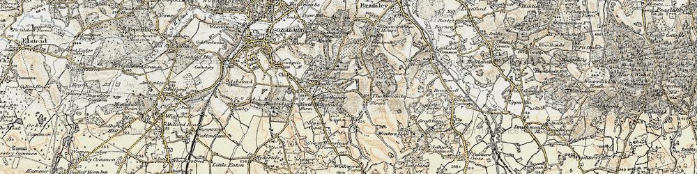 Old map of Winkworth Arboretum in 1897-1909