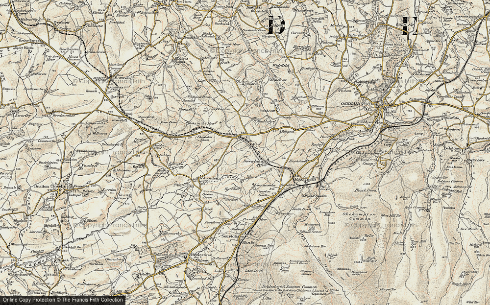 Old Map of Historic Map covering Linnacombe in 1899-1900
