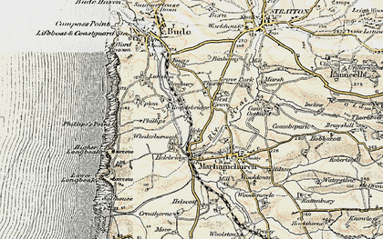 Old map of Thorne in 1900