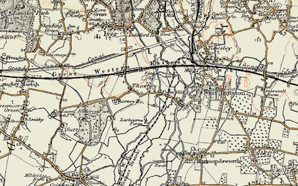 Old map of Thorney in 1897-1909