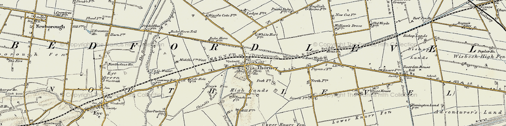 Old map of Thorney River in 1901-1902
